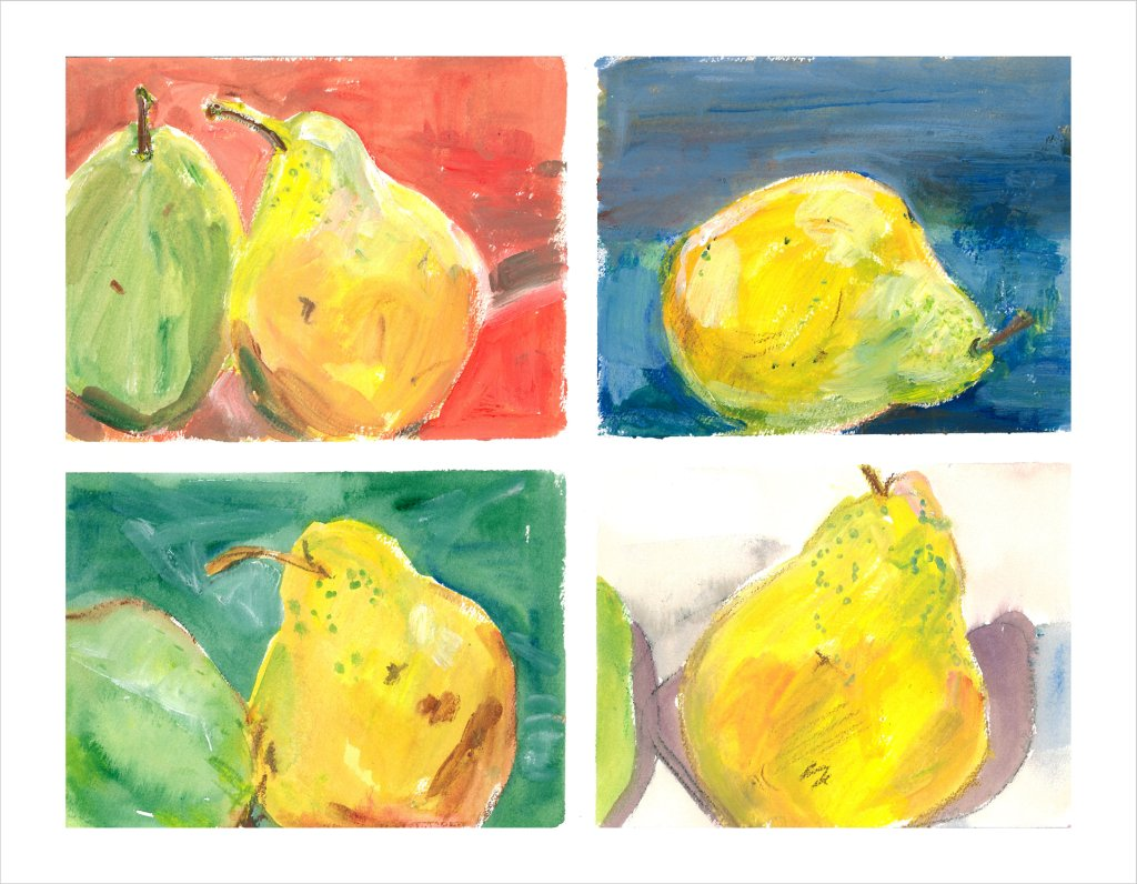 Pears Four different  jpg